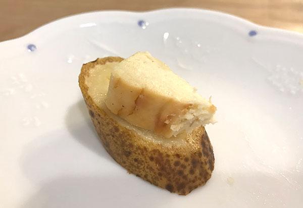 神バナナに神様のアイスベイクドバナナチーズケーキを乗せてみた!